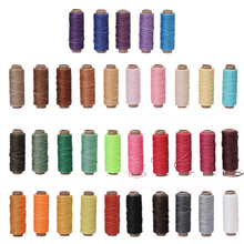 5Pcs 0.88mm 150D Leather Sewing Waxed Thread For Chisel Awl Shoes Luggage Repair wax thread W210(China)