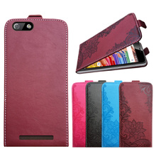 3D Stereo Embossing lace flower butterfly flip up and down leather phone bag cover case for Highscreen Power Five EVO