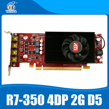 Multiscreen Display Card R7 350 2GB GDDR5 128Bit 4DP for Low Profile PC Support 4 mode display(China)