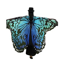 Special Butterfly Design Wings Printed Pashmina Women Ladies Cover ups Soft Fairy Fabric Nymph Pixie Accessory Suit Beach Towel