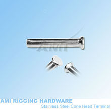 4mm wire*33mm, H11-04-02,Cone head terminal, cable end fitting, stainless steel 316,wire rope fitting,cable railing,deck railing(China)