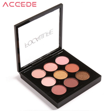ACCEDE 9 Colors Earth Tone Shimmer Matte Pigment Glitter Focallure Eyeshadow Palette Artist Shadow Palette Makeup Metallic
