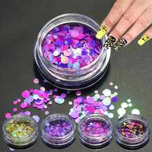 1g NEW Multicolo Mini Round Shape Nail Glitter Powder Dust 3D Nail Art Decorations Nail  Paillette  Stickers DIY Tools SAP13-24