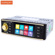 Zeepin 4019B 4.1 inch 1 Din Car Radio Audio Stereo 1Din USB AUX FM Radio Station Bluetooth with Rearview Camera Remote Control(China)