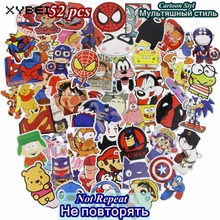 52 Pcs Funny Cartoon Stickers Mixed JDM Home Motorcycle Suitcase DIY Vinyl Decal Skateboard Luggage Snowboard Fridge Sticker