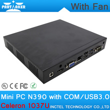 4G RAM Low Power Mini PC Smallest Gaming PC HDD with Intel Celeron1037U dual core 1.8GHz mini pc with fan