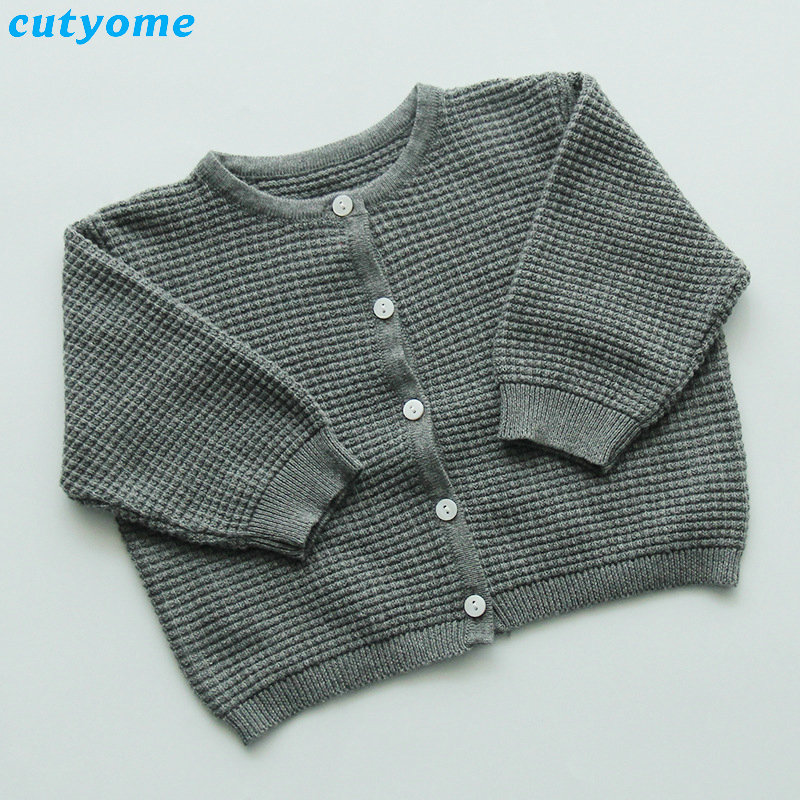 Cutyome Baby Boys Girls Cardigan Sweater Cotton Candy Color Long Sleeve Newborn Boys Clothes For Infant Knitted Outwear Sweaters (12)