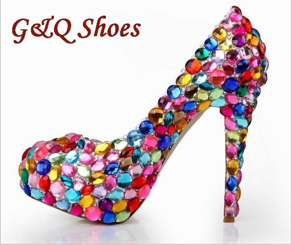2016 Women pumps high heels bride shoes fashion women shoes thin heels pumps Diamond decoration high heels wedding party shoes<br><br>Aliexpress