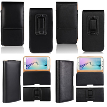Belt Clip Case For Sony Xperia S SP L V T M2 Holster Cover Leather Pouch Universal Mobile Phone Bag Coque Etui Capinha Hoesje