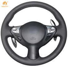 Black Artificial Leather Car Steering Wheel Cover for Infiniti FX FX35 FX37 FX50 Nissan Juke Maxima 2009-2014 Sentra 2016 2017