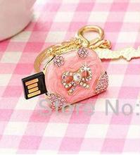 USB Flash 2.0 Memory Drive Stick new arrive Ms gift Metal Crystal Jewellery Pink Lady's Handbag usb flash drives 4GB-64GB S232