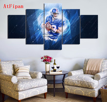AtFipan Sports Stars Giants Eli Manning Modern Home Wall Decor Canvas Paintings For Living Room Vintage Modular Wall Paintings