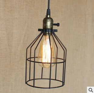 Retro Loft Style Vintage Pendant Lamp Light Fixtures With Iron Lampshade Lamparas Colgantes Industiral Lamp<br>