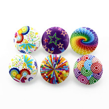 10pcs/lot Colourful Round Wood Snap Buttons fit 18mm/20mm DIY Snap Bracelet Replaceable Buttons Jewelry NA12-370(China)