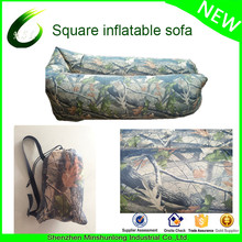newest square head inflatable ripstop nylon 210D hangout lazy bag laybag air bag air sofa hammock sun lounger air bed transat