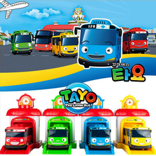 One piece Korean Cartoons garage Tayo the little bus model mini Tayo plastic baby araba oyuncak car for kids Christmas gift