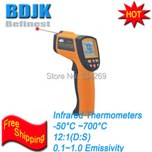 Pocket Infrared Thermometers -50~700 Temperature Tester Economic Instrument with Alarm Function