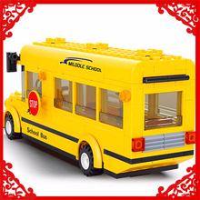 City School Bus Model Building Block Toys Compatible Legoe SLUBAN 0507 218Pcs DIY Educational Figure Gift For Children(China)