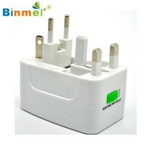 Hot-sale BINMER EU AU UK US To Universal World Travel AC Power Plug Convertor Adapter Socket High Quality Charger Adapter Gifts