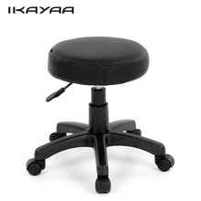 iKayaa FR Stock PU Leather Swivel Bar Stool Chair with Intertek Testing Height Adjustable Pneumatic Counter Pub Chairs Barstool