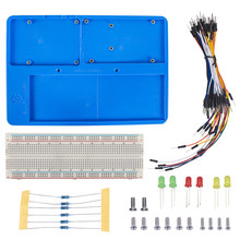 SunFounder RAB Holder Kit with 830 Points Solderless Circuit with Breadboard Jumper Wires LED Resistors for Arduino Uno R3 Mega(China)