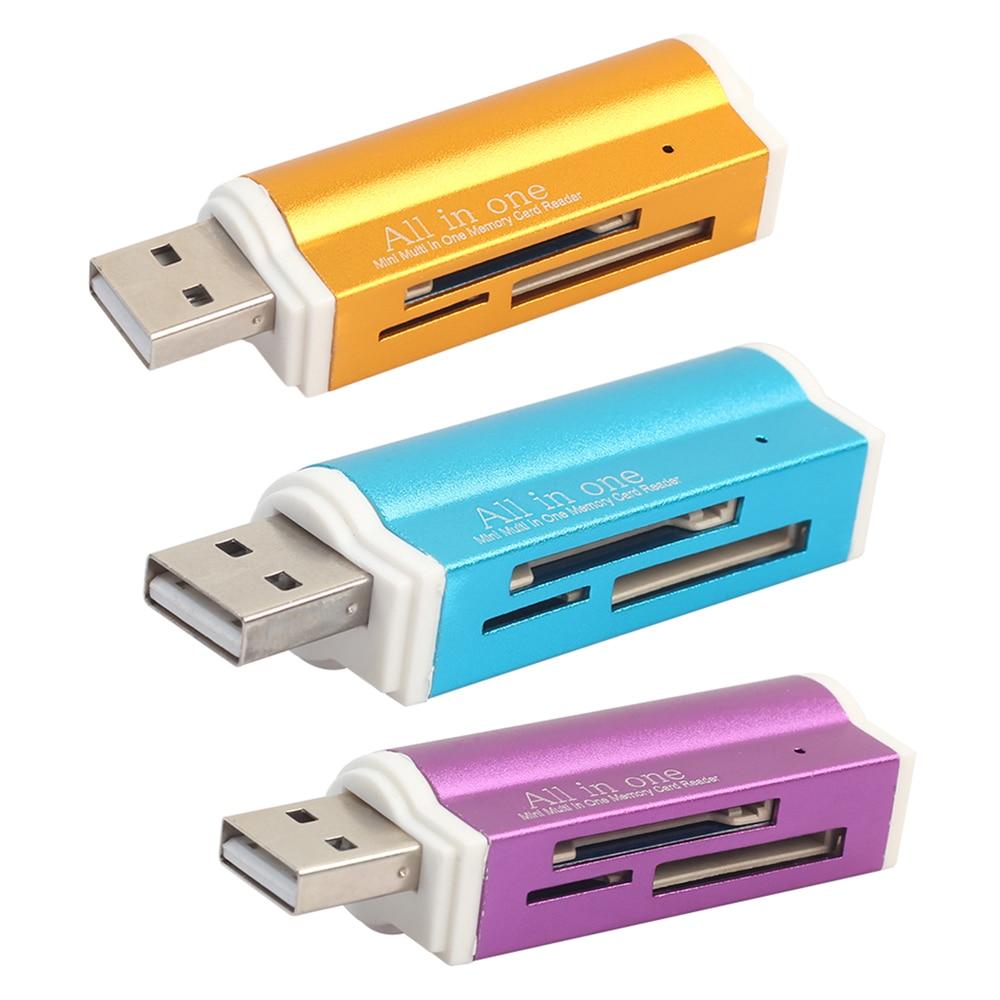 External USB 2.0 Multi Micro SD TF M2 MS T-Flash Memory Card Reader Adapter