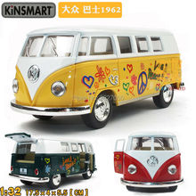 High Quality Classic Bus Soft World Minibus Toy MiniVan Alloy Model Toy Bus As Gift For Boy And Kids(China)