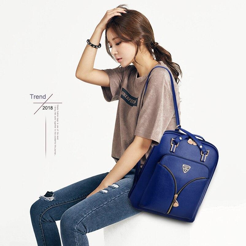 Nevenka Anti Theft Leather Backpack Women Mini Backpacks Female Travel Backpack for Girls School Backpacks Ladies Black Bag 201825