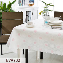 Green tablecloths waterproof disposable EVA tablecloths oil table cloth table pad almost tasteless(China)