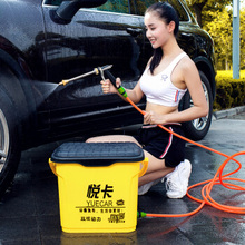 Electric High Pressure Energy Saving Car Washer 35L Double Pump 12V Car Washing Machine Safe Material Bucket 150W Garden Cleaner(China)