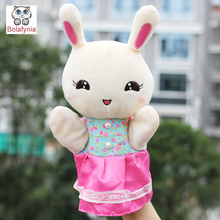 Children Hand Puppet kids doll baby plush Stuffed Toy Kindergarten puzzle cute little bunny Puppets toys Christmas birthday gift