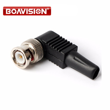 100pcs/ CCTV BNC Plug male pin Soldering Iron Plastic tail RG59 BNC Male connector Solderless/connector bnc balun(China)