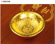 5g/piece Zodiac dragon Gold Bowl Investment collection gift gold bullion bar BRIC Pure Gold Coin with Box gift present