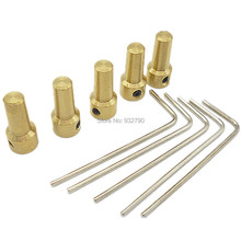 5pc 3.17mm Brass Mini Electric Motor Shaft Clamp Drill Chuck Clamp Connection Shaft Coupling Motor Connector For 0.3mm-4mm Drill(China)