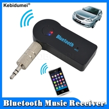 1pcs Bluetooth Music Receiver Universal Handfree 3.5mm Stream A2DP Wireless Auto Audio AUX Adapter With Mic For Car Phone MP3(China)