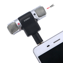 kebidu2017 New Portable Mini Mic Digital Stereo Microphone for Recorder Mobile Phone High Quality(China)