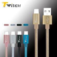 Newest fast Charge 8 pin Metal Braided Wire Sync Data Micro USB Cable for iPhone 7 Plus 6s 5s iPad Sony HTC Samsung Phone Cables