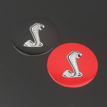 1 PCS 3D Cobra Symbol Car Styling Auto Steering Wheel Center Decorative Badge Decal Sticker for Ford Mustang Shelby