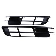 Brand New Pair High Quality ABS Plastic Front Bumper Center Lower Grill Grille For Audi Q7 2007-2009 4L0 807 681 4L0 807 682(China)