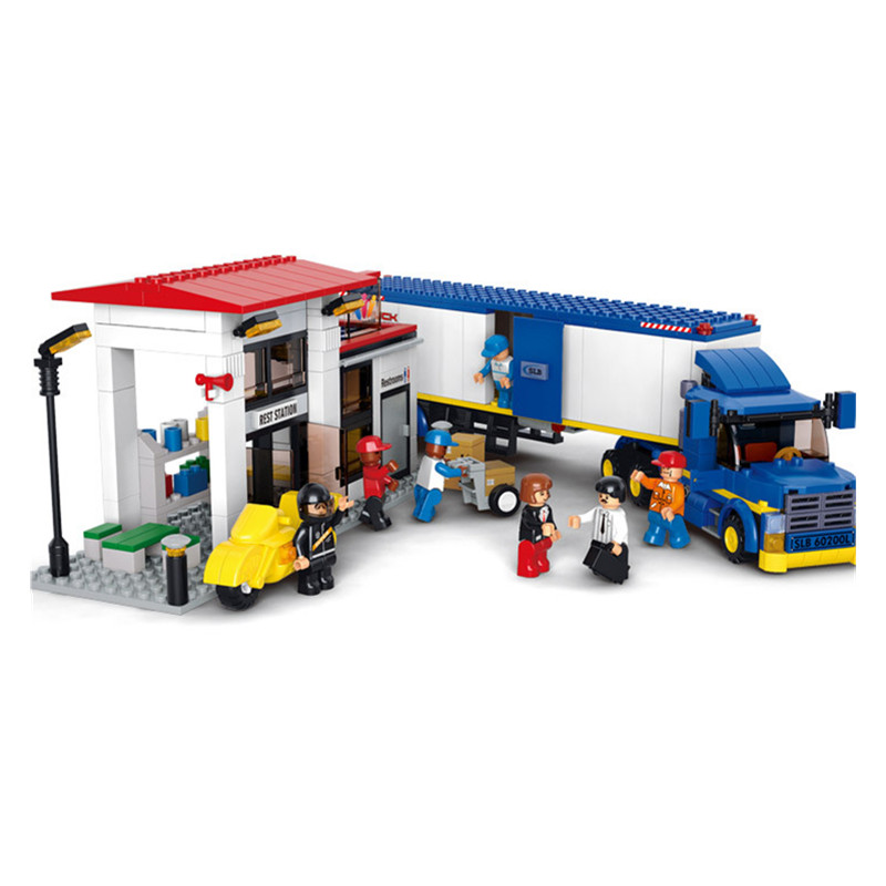 Sluban B0318 City Heavy Van Truck Blocks&amp;Bricks Toys Kids Boy Car Set Game Model Compatible with Decool Lepin Gift<br>
