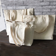 10x Blank Natural Cotton Canvas Tote Bags for Grocery Shopping , Beach , Promotion Gifts, Eco-friendly, Customized logo Printing(China)