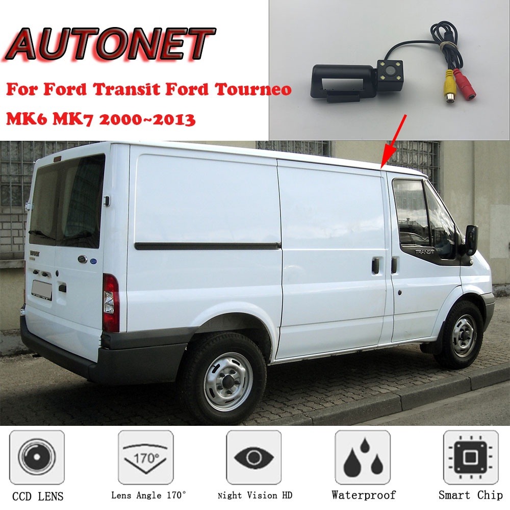 Backup Camera for Car Waterproof Rear-View License Plate Rear Reverse Parking Camera for Ford Transit Ford Transit Connect Van Ford Transit Mk7 Connect