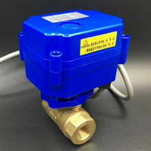 "Brass 1/4"" Electric Motor Valve, DC5V Motorized Ball Valve With 5 Wires(CR05), DN8 Actuated Ball Valve For Water Control CE"