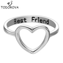 Todorova 10pcs Forever Love Heart Finger Ring Brand Jewelry Best Friend Valentine's Day Gift Women Accessories Wholesale China