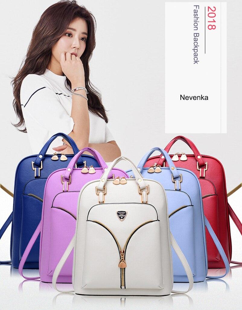 Nevenka Anti Theft Leather Backpack Women Mini Backpacks Female Travel Backpack for Girls School Backpacks Ladies Black Bag 201818