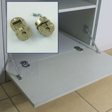 2 pc flip hinge 90 degree open zinc alloy