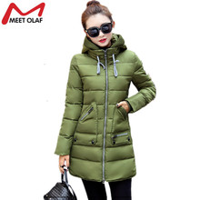 Women's Winter Jacket 2017 New Long Cotton Padded Female Coat Parkas Plus Size 7XL hooded Coat Slim Ladies Snow Wear Coats YL442