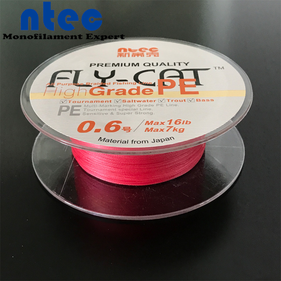500m Braided Fishing Line 8 Strands PE Fishing Line Pink Color(China (Mainland))