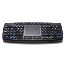 Buy 69 Keys QWERTY Keypad Mini Keyboard 2.4GHz Wireless Fly Air Mouse Combo Smart Touchpad Computer Android TV Box HTPC Black for $17.40 in AliExpress store