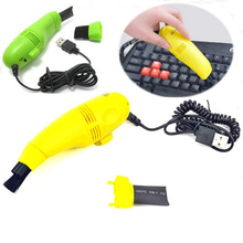 New Hair Dust collector Pocket Brush Computer Laptop Keyboard Vacuum Cleaner USB Mini Laptop Cleaning Wipe Box QA034-SZ
